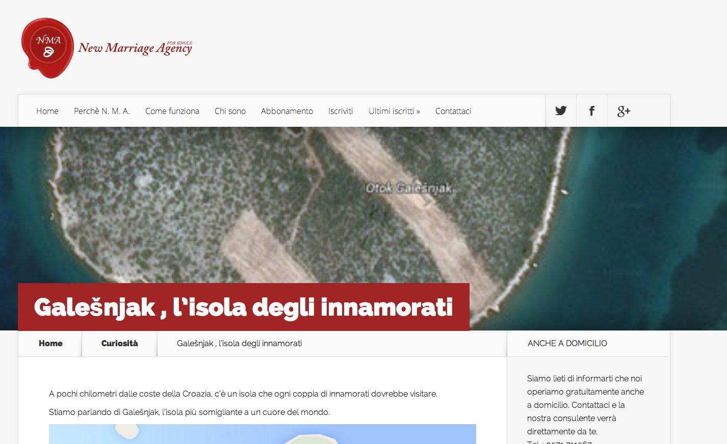 Galešnjak , l'isola degli innamorati