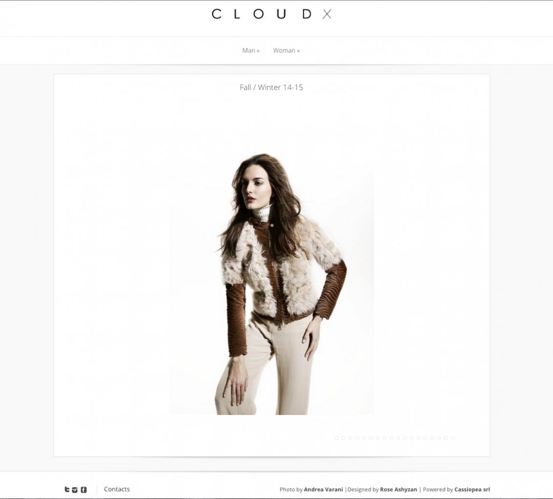 CloudX – Fashion website