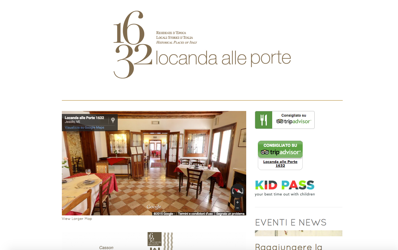 Locanda Alle Porte 1632 Website